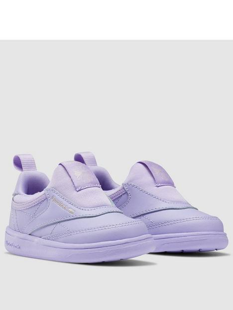 reebok-infant-boys-club-c-slip-on-trainers-lilac