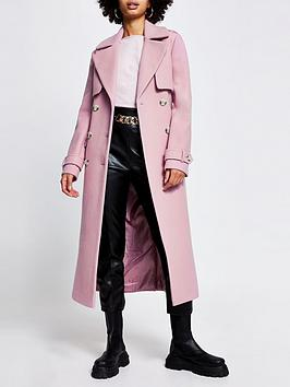 river-island-wool-touch-trench-coat-lilac