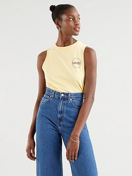 levis-graphic-band-tank-yellow