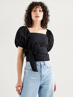 levis-vera-short-sleevenbspblouse-black