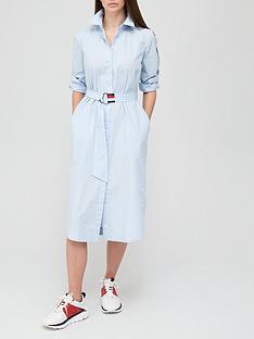 tommy-hilfiger-poplin-shirt-dress-blue
