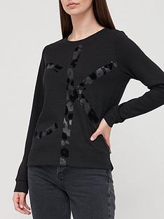 calvin-klein-leopard-logo-sweat-black