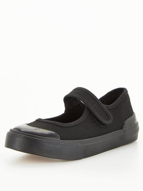 v-by-very-toezone-at-v-by-verynbspgirls-school-penbspcanvas-pump-black