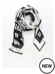hugo-loreda-logo-fabric-scarf-black