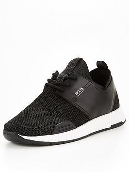 boss-titanium-knitted-runner-trainers-black