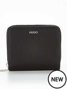 hugo-victoria-small-leather-purse-black