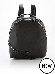 hugo-victoria-leather-backpack-black