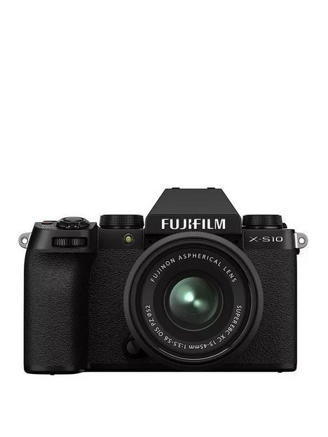 fujifilm-x-s10-mirrorless-digital-camera-with-xc15-45mmf35-56-ois-pz-lens-black