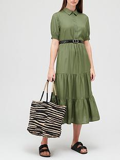 v-by-very-shirt-tiered-midi-dress-olive