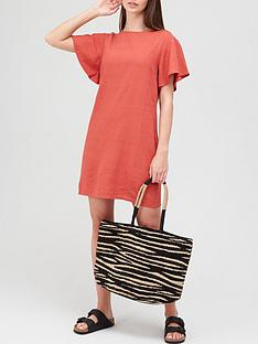 v-by-very-linen-shift-dress-rednbsp