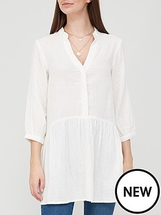 v-by-very-cotton-34-sleeve-longline-blouse-ivorynbsp
