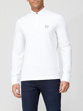 armani-exchange-long-sleeve-logo-polo-shirt-whitenbsp