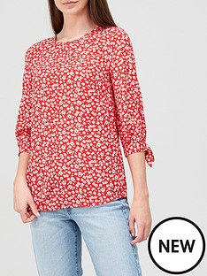 v-by-very-printed-long-sleeve-shell-topnbsp--red-floralnbsp