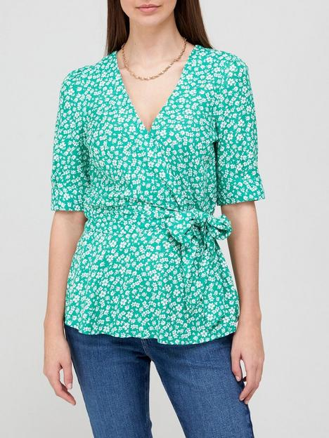 v-by-very-printed-wrap-top-green-floralnbsp
