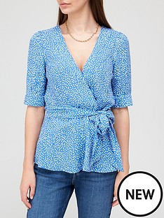 v-by-very-printed-wrap-top-blue-spotnbsp