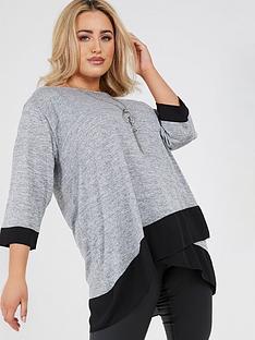 quiz-curve-quiz-curve-grey-light-knit-wrap-necklace-top