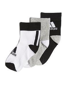 adidas-unisex-junior-3-packnbspankle-socks-blackgreywhite