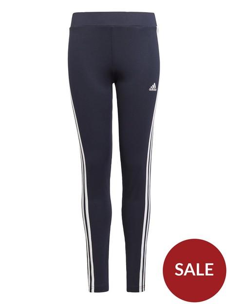 adidas-girls-juniornbsp3-stripes-tight-greywhite