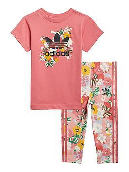 adidas-originals-girls-infant-t-shirt-dress-set-pink