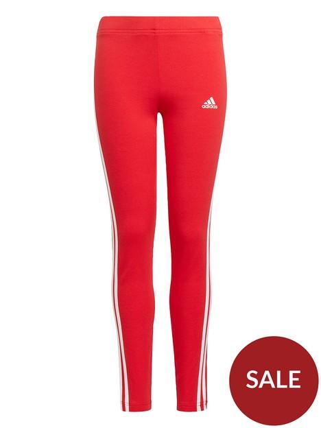 adidas-girls-junior-3-stripes-leg-tight-redwhite