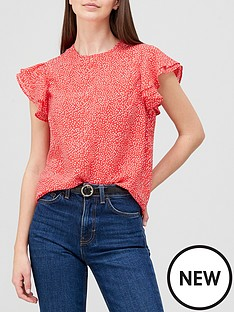 v-by-very-frill-shell-top-red-spotnbsp
