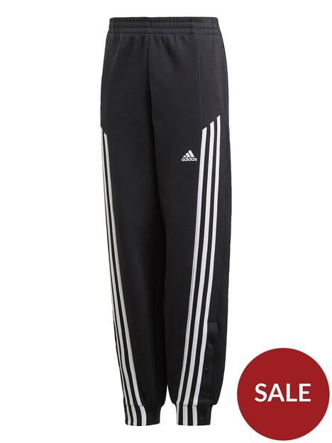 adidas-girls-juniornbspsnap-pants-blackwhite