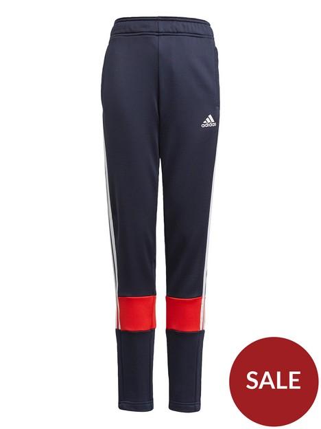adidas-boys-junior-b-arnbsp3-stripes-tracknbsppant-greyred