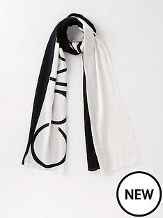 calvin-klein-lightweight-spring-logo-colourblock-scarf-blackwhite