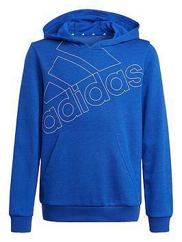 adidas-boys-junior-b-logo-hoodie-bluewhite