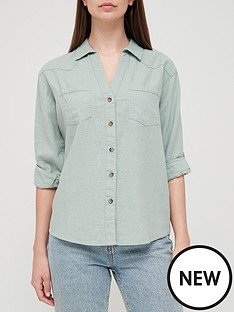 v-by-very-long-sleeve-linen-mix-casual-shirt-sage