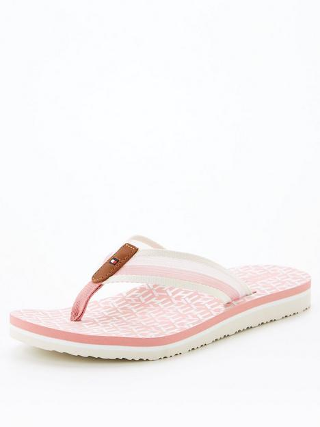 tommy-hilfiger-th-monogram-flat-beach-sandal-pink
