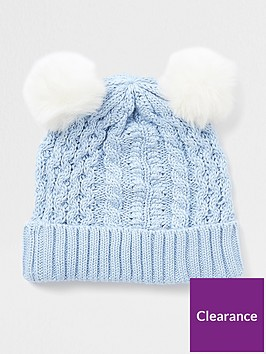 river-island-baby-light-cable-knit-pom-beanie-hat