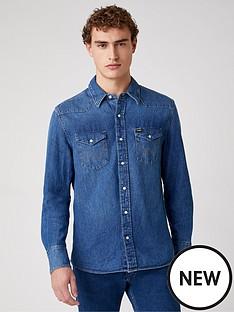 wrangler-plus-size-27mw-denim-shirt