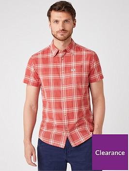 wrangler-short-sleeved-shirt-red
