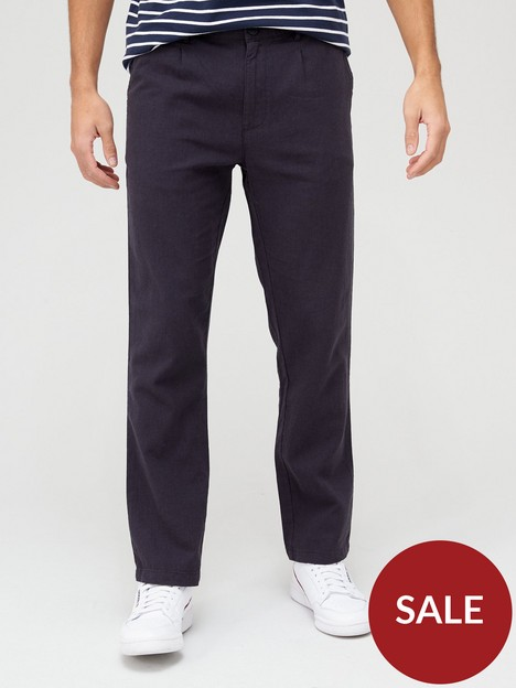 very-man-slim-fit-linen-trousers-navy