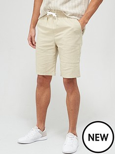 very-man-linen-drawstring-short-stone