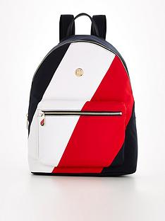tommy-hilfiger-colourblock-poppy-nylon-backpack-multi