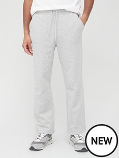 very-man-loose-jogger-with-open-hem-grey-marl