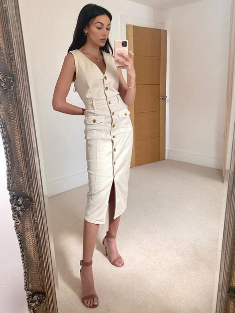michelle-keegan-stretch-denim-pencil-dress