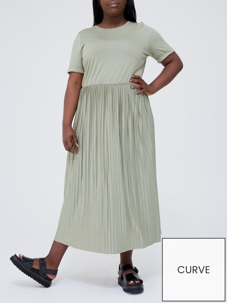 v-by-very-curve-pleated-skirt-midi-jersey-dressnbsp--khaki