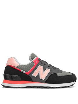 new-balance-574-trainers-blackgreypink