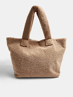 topshop-large-shearlingnbsptote-bag-puttynbsp