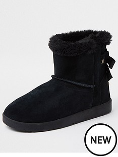 river-island-quilted-bow-back-boot-black
