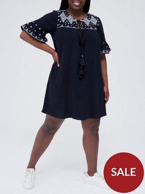 v-by-very-curve-embroidered-tunic-dress-black