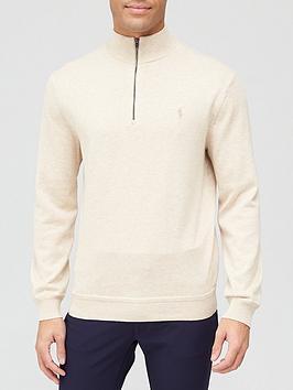 polo-ralph-lauren-golf-long-sleeve-pima-half-zip-beige