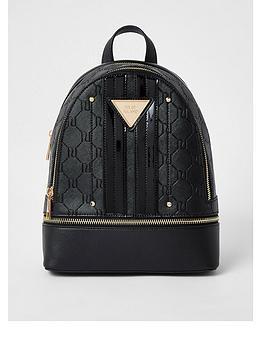 river-island-mini-panelled-backpack-black