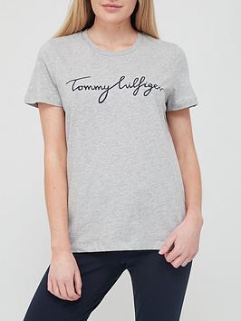 tommy-hilfiger-script-logo-t-shirt-grey