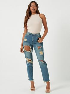 missguided-riot-high-rise-ripped-mom-jeans-authenticnbsp