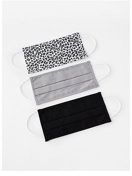 accessorize-nbsp3-x-multipack-cotton-face-cover--nbspleopard-amp-black-amp-grey