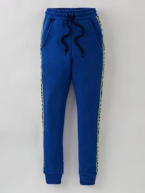 hype-boys-royal-logo-tape-jog-pants-blue